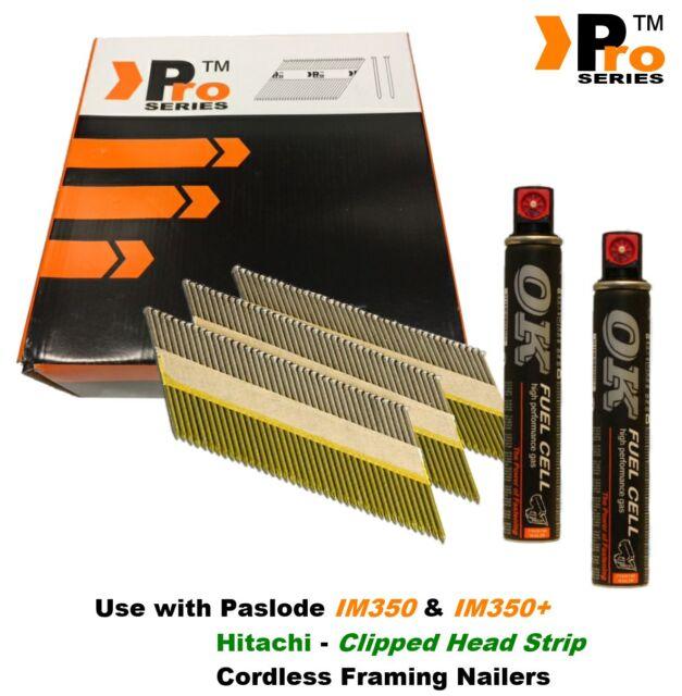 Framing Nails,Clipped D-Head , 2k nails & 2Fuel Cell, Paslode & Hitachi Nailers