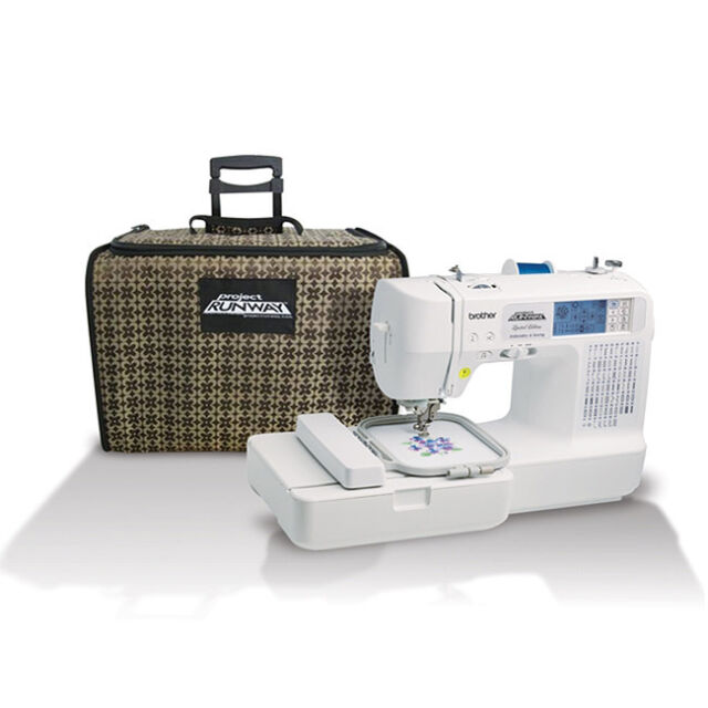 NEW Brother LB6800PRW Project Runway Sewing/Embroidery Machine with Rolling Tote