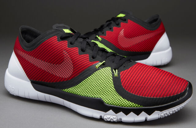 Nike Free Trainer 3.0 V4 Men's Black/ Red/Volt Training Shoes 749361-066