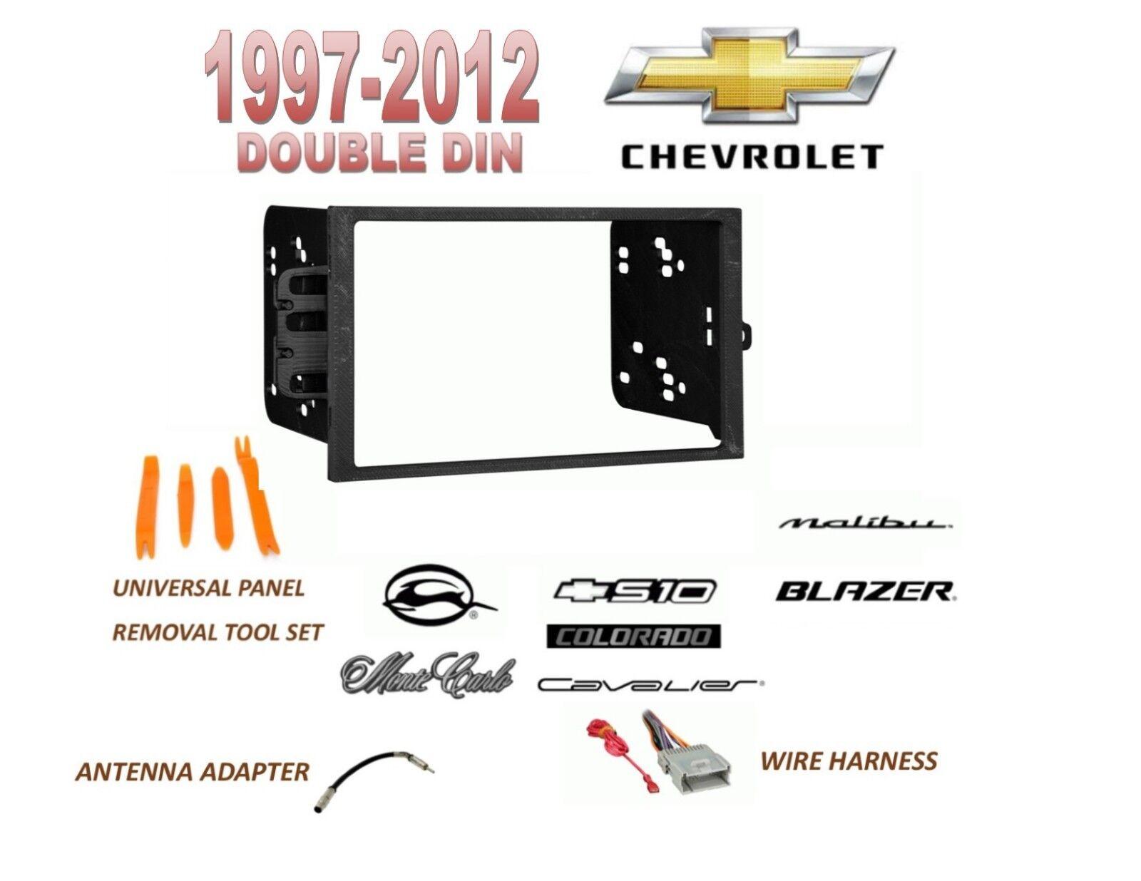 1997 2012 chevrolet malibu blazer s10 2 din car stereo install dash rh ebay com 1995 S10 Pickup Wiring Diagram 2000 S10 Stereo Wiring Diagram
