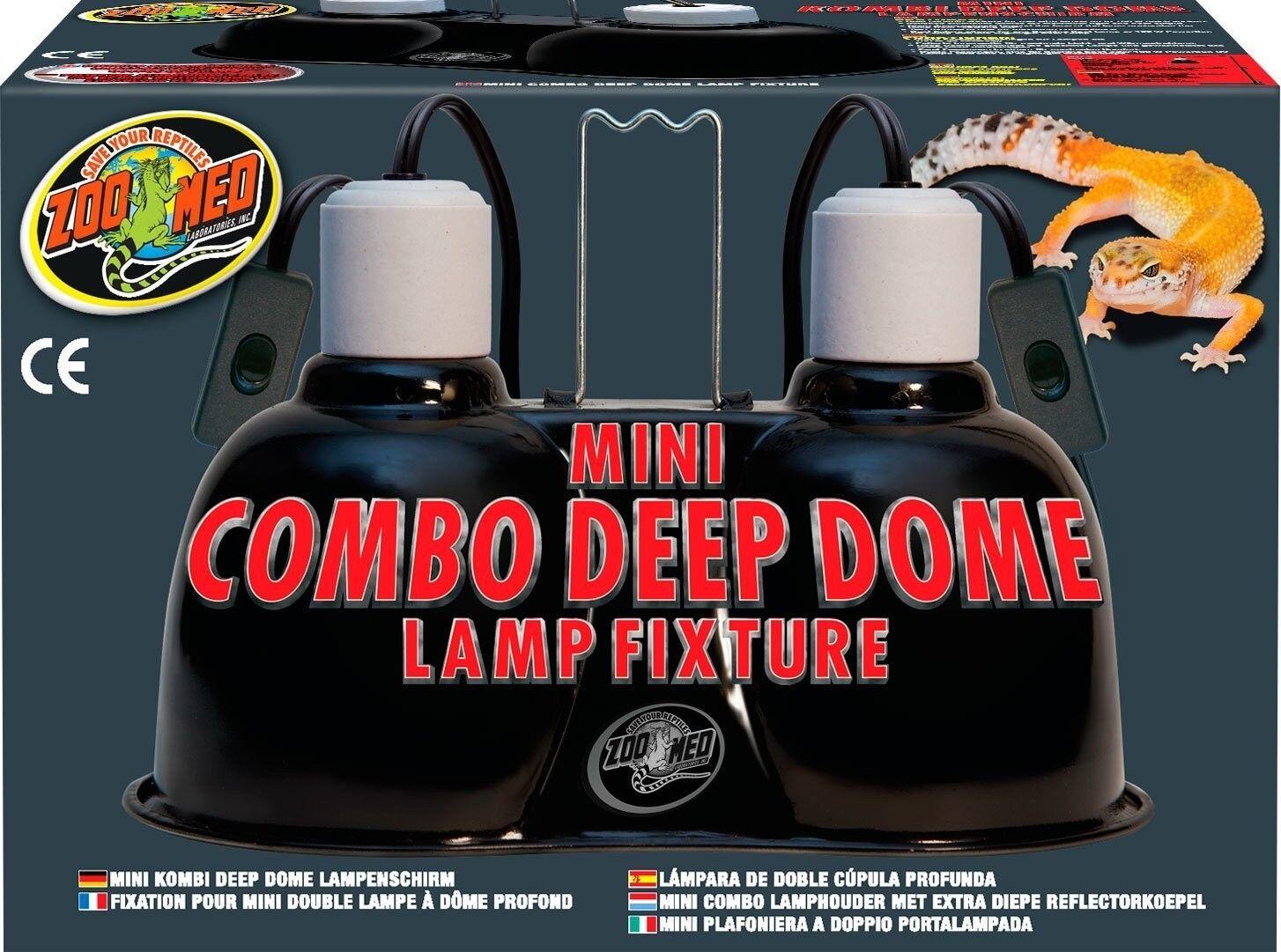 Zoo Med Mini Combo Deep Dome Lamp Fixture Black | eBay