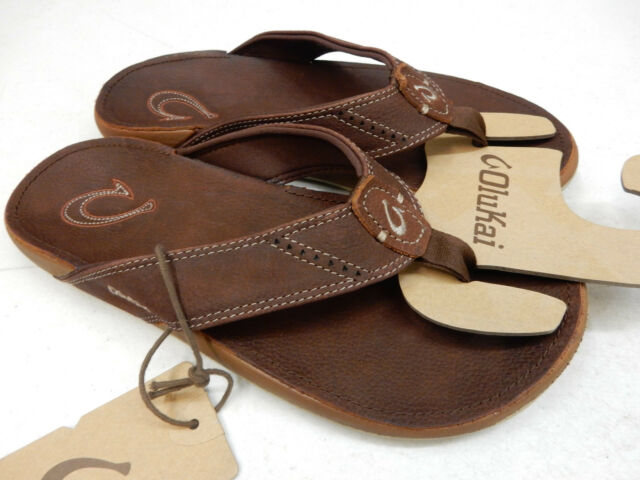 Olukai Men's 'Nui' Leather Flip Flop lJ4I8agj