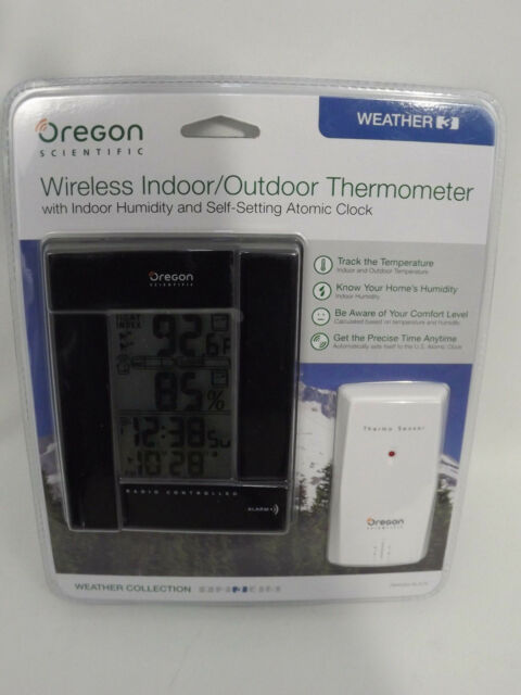 Oregon Scientific Indoor / Outdoor Wireless Thermometer Rmr383 Black ...