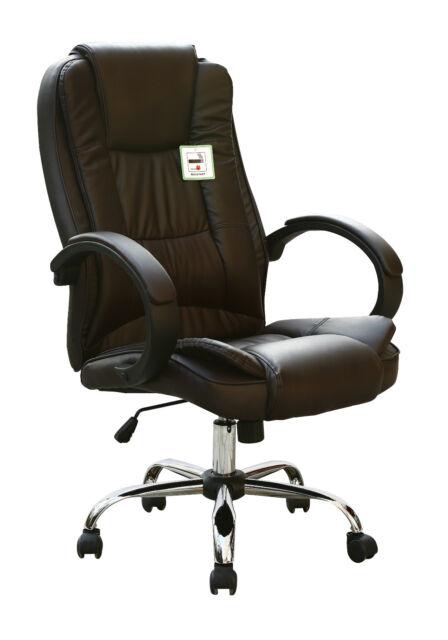 Respaldo Alto Ejecutivo Giratorio Computadora Escritorio Imitación Cuero Office Chair