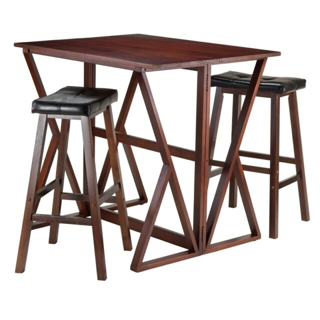 Delicieux Home Furniture Tables Winsome 3 Piece Harrington Drop Leaf High Table With  2 CUS