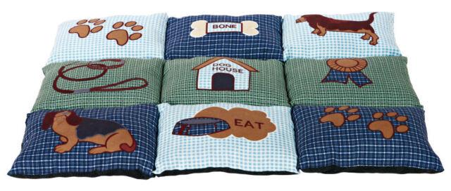 TRIXIE Decke Patchwork für Hunde 80 x 55 cm blau/grün Hundedecke Kuscheldecke