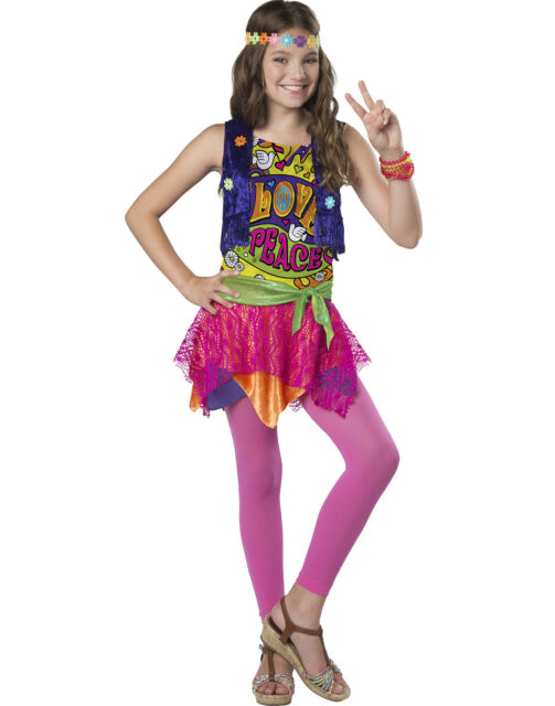 Groovy Girl Girls Child Hippie 80S Chick Halloween Costume  sc 1 st  eBay : 80s chick costume  - Germanpascual.Com