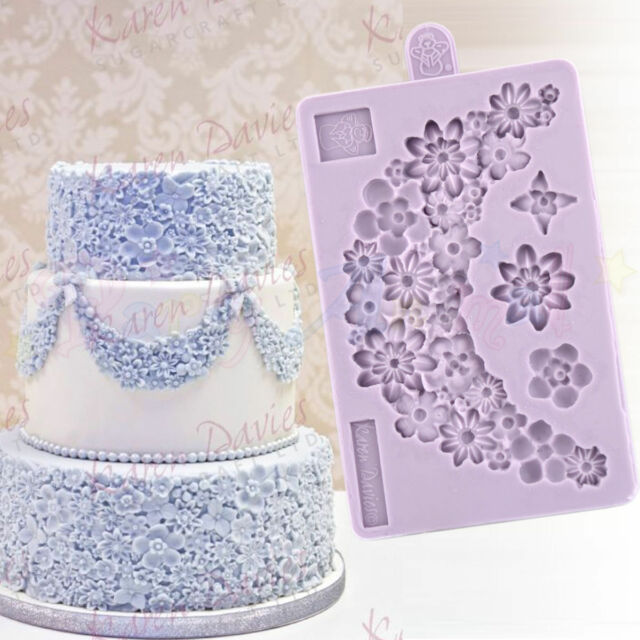 Karen davies sugar flower garland silicone sugarcraft cake for Sugar craft decorations