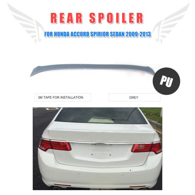 Fit for 10 11 12 honda accord euro acura tsx pu rear trunk boot pu unpainted grey rear trunk window spoiler boot wing for honda accord 09 13 sciox Image collections
