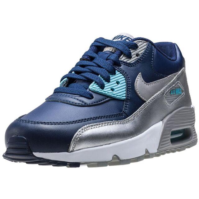 Nike Air Max 90 LTR Binary Blue/Matte Silver (GS) (833376 403