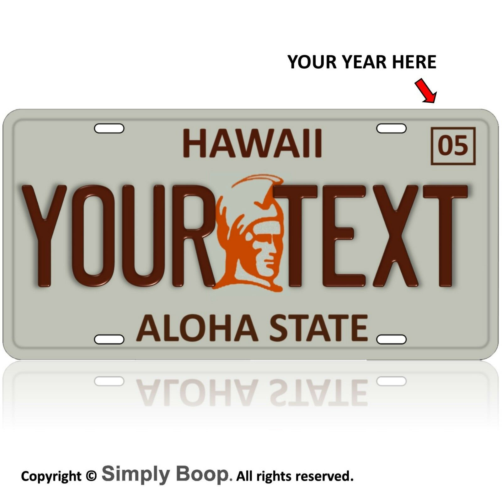 Custom Hawaii State License Plate Tag Personalized Hawaian ...