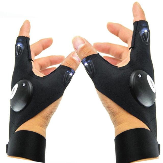 Picture 13 of 13  sc 1 st  eBay & LED Atomic Lights Beam Gloves Flashing Rave Finger up Lighting ...