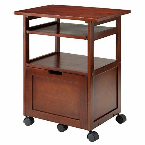 Winsome Wood Piper Work Cart/Printer Stand With Key Board Desks Home Office