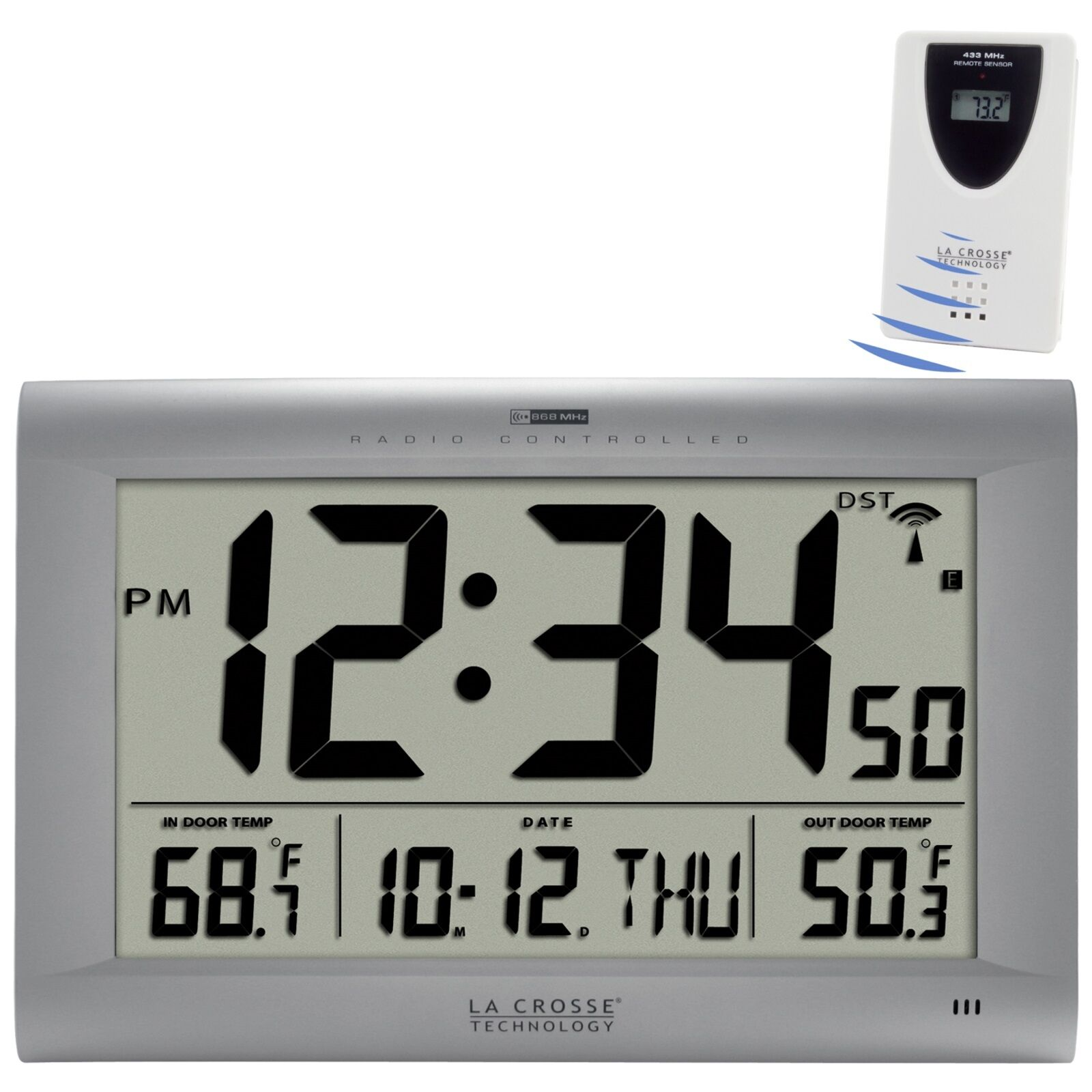 513 1311otn la crosse technology large atomic digital wall clock picture 1 of 6 amipublicfo Gallery