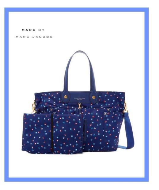 Marc By Jacobs Eliza Baby Diaper Bag W Pad Blue Depths M0005547 Nwt 348