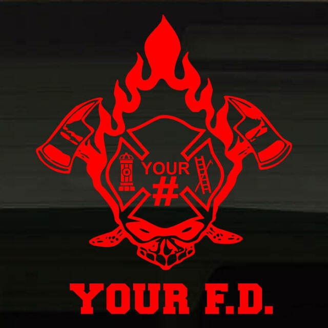 CUSTOM Firefighter Decal w/ NAME &BADGE number by ExpressiveCuts
