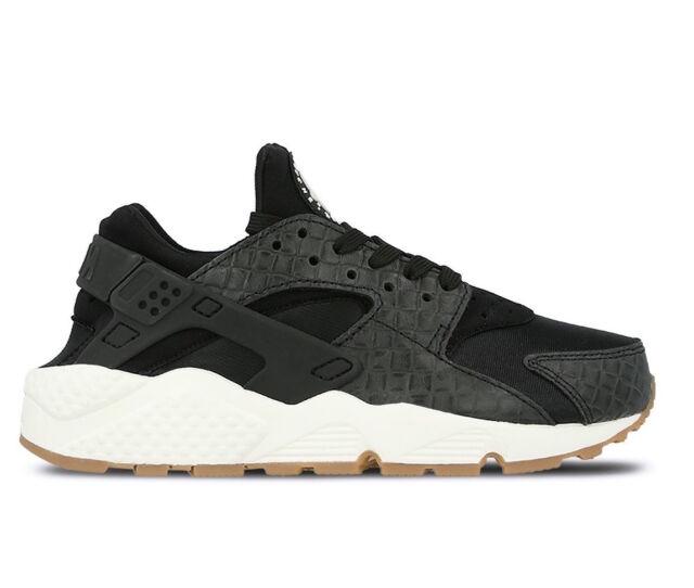 Nike Wmns Air Huarache Run Premium Womens Black