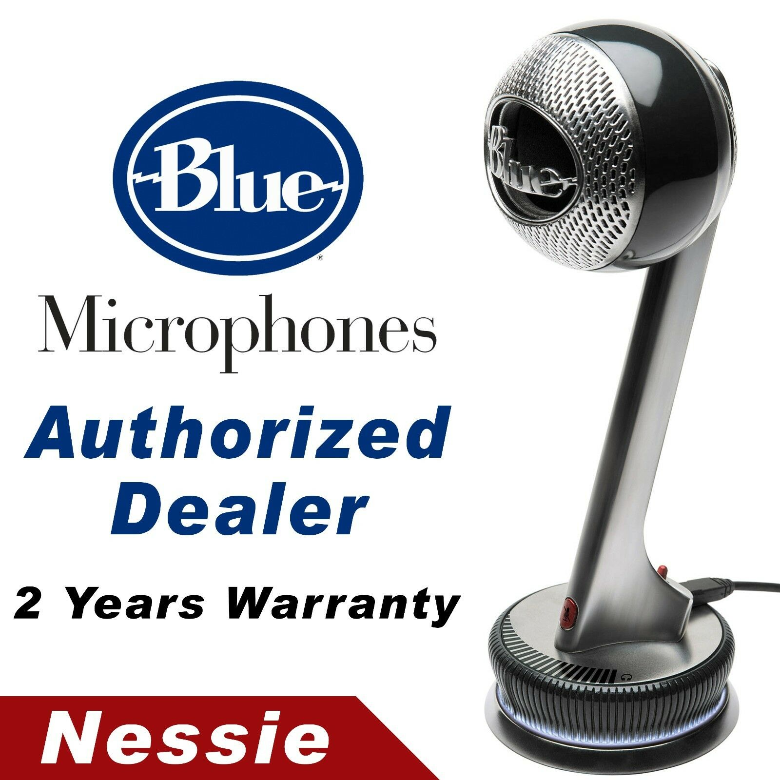 Blue Nessie Adaptive Plug n/' Play USB Microphone with Pop Filter /& Shock Mount