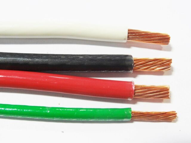 50 EA THHN 6 AWG GAUGE BLACK WHITE RED STRANDED COPPER WIRE 10