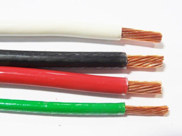 50 Ea Thhn 6 Awg Gauge Black White Red Stranded Copper