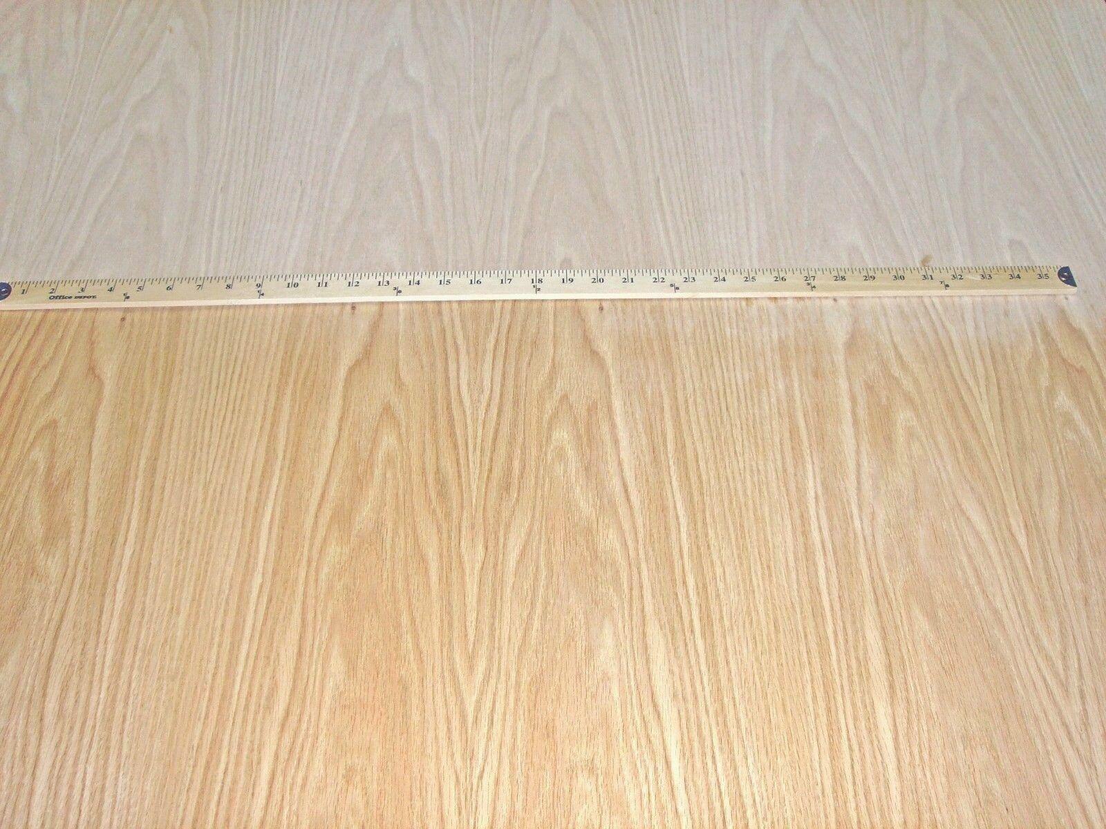 "Red Oak Wood Veneer 24"" X 48"" With 3m Peel and Stick Adhesive Backer"
