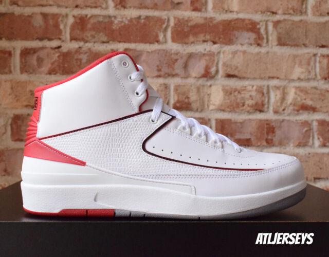 Air-Jordan-2-II-Retro-White-Red-385475-102-Size-10.5