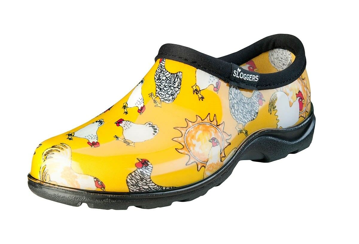 SLOGGERS 5116CDY07 SIZE 7 WOMENS GARDEN SHOE YELLOW CHICKEN WATERPROOF 4272928