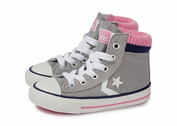 Converse Sock Hi Childrens Kids Grey/Pink Grey/Pink