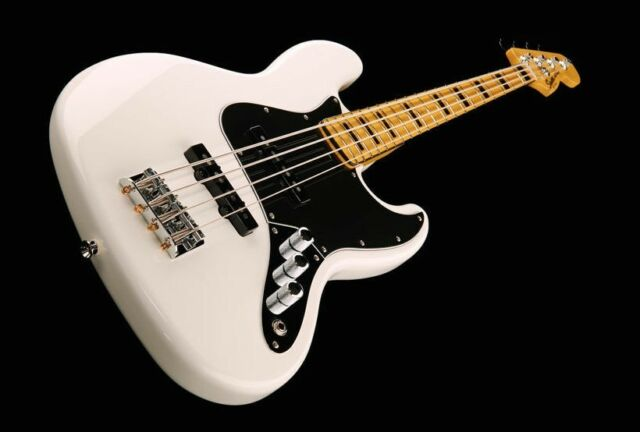 squier jazz bass 70s vintage modified loaded body white ebay. Black Bedroom Furniture Sets. Home Design Ideas