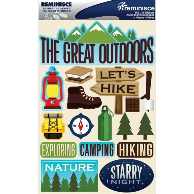 Reminisce The Great Outdoors Camping Hiking Dimensional 3d Scrapbook