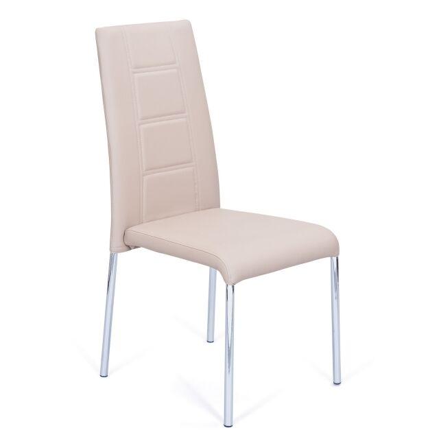 2 Stühle=Set Vierfussstuhl Stuhl Iowa Kunstleder Beige