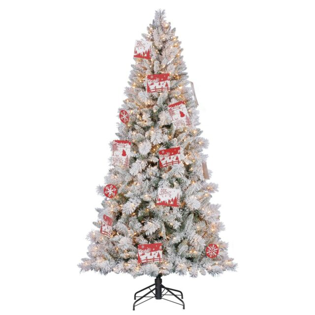 2 Ft White Christmas Tree: Hallmark 7.5' Artificial Northern Estate White Flocked