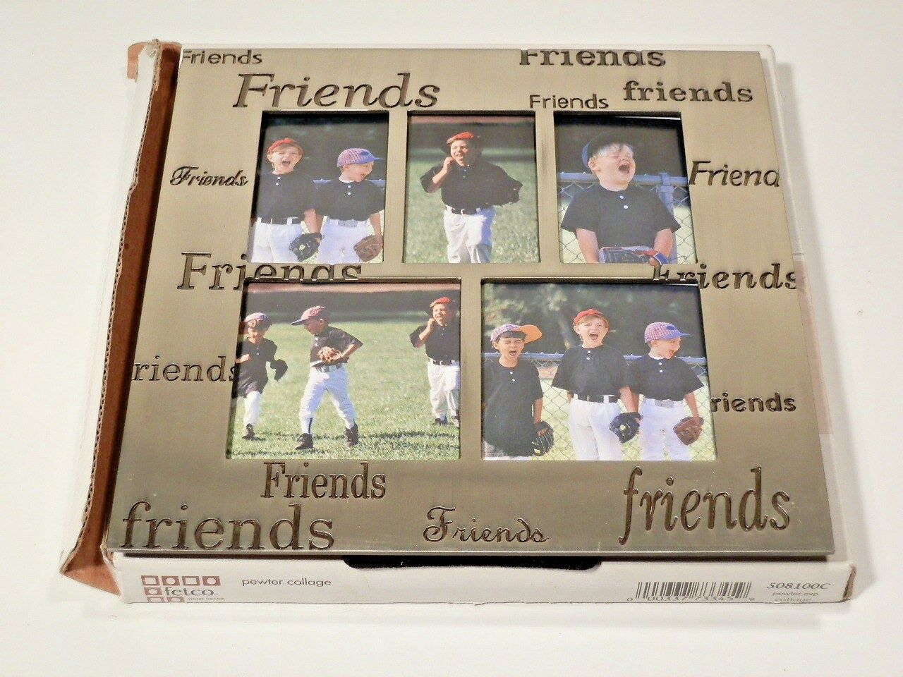 Fetco pewter collage friends picture frame holds 5 pictures ebay picture 1 of 3 jeuxipadfo Gallery