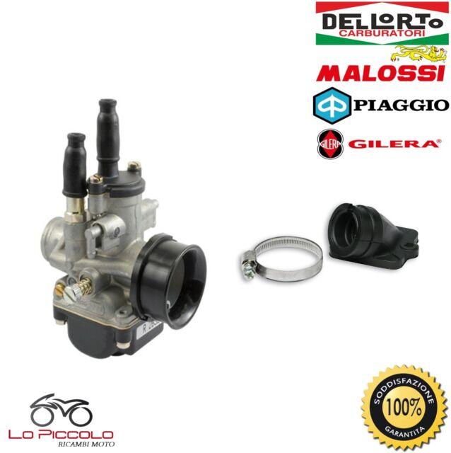 CARBURATORE DELL'ORTO PHBG 21 DS + COLLETTORE MALOSSI VESPA ET2 LX S 50 2T