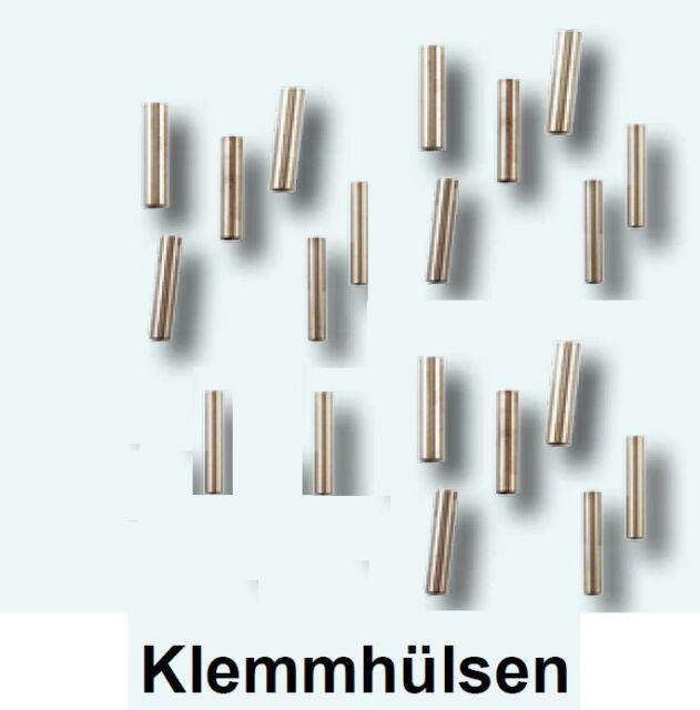 20 Klemmhülsen 0,8mm Klemmhülse Quetschhülsen Raubfisch