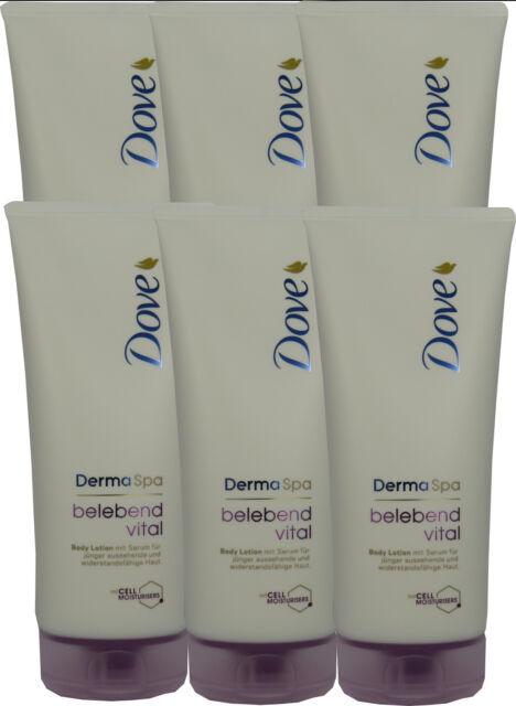 6 x 200 ml Dove Derma Spa Belebend Vital Body Lotion DermaSpa