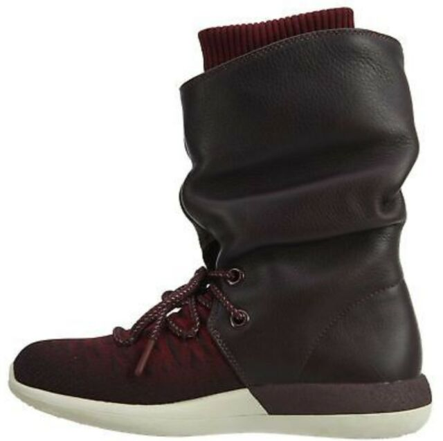 Da Donna Nike Rosherun due Hi Flyknit Boot UK 3.5 UK 5 861708 600 DEEP BURGUNDY
