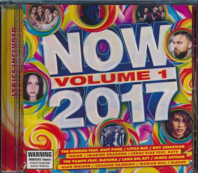 NOW 2017 Volume 1 One Brand NEW CD with Lyrics Guy Sebastian Lana del Rey Alesso