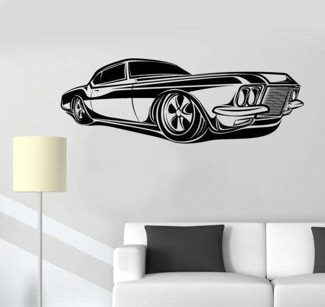 Vinyl wall decal retro car impala supernatural garage automobile stickers 1340ig