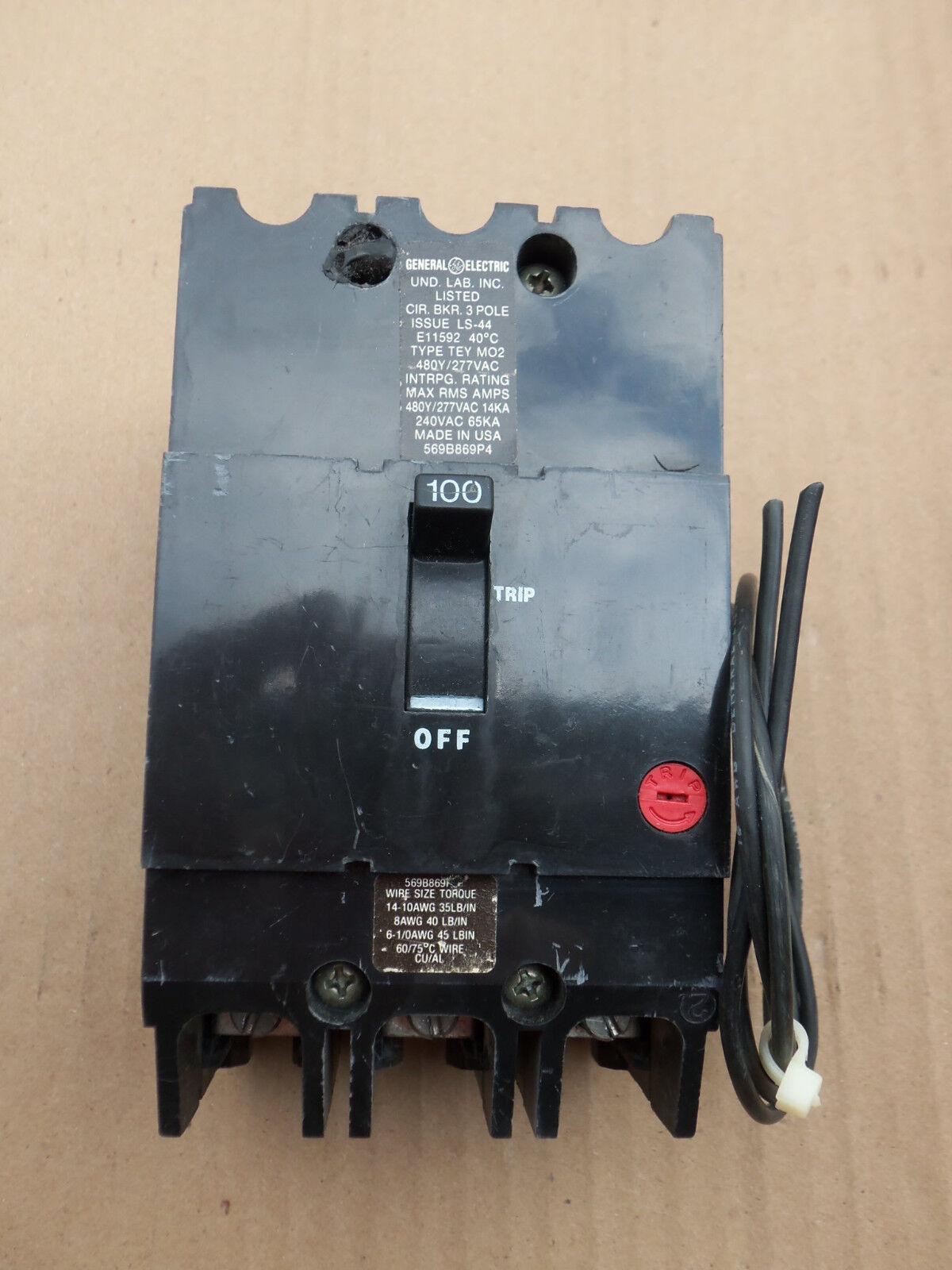 TEY3100ST12 General Electric Circuit Breaker 100a 480v | eBay