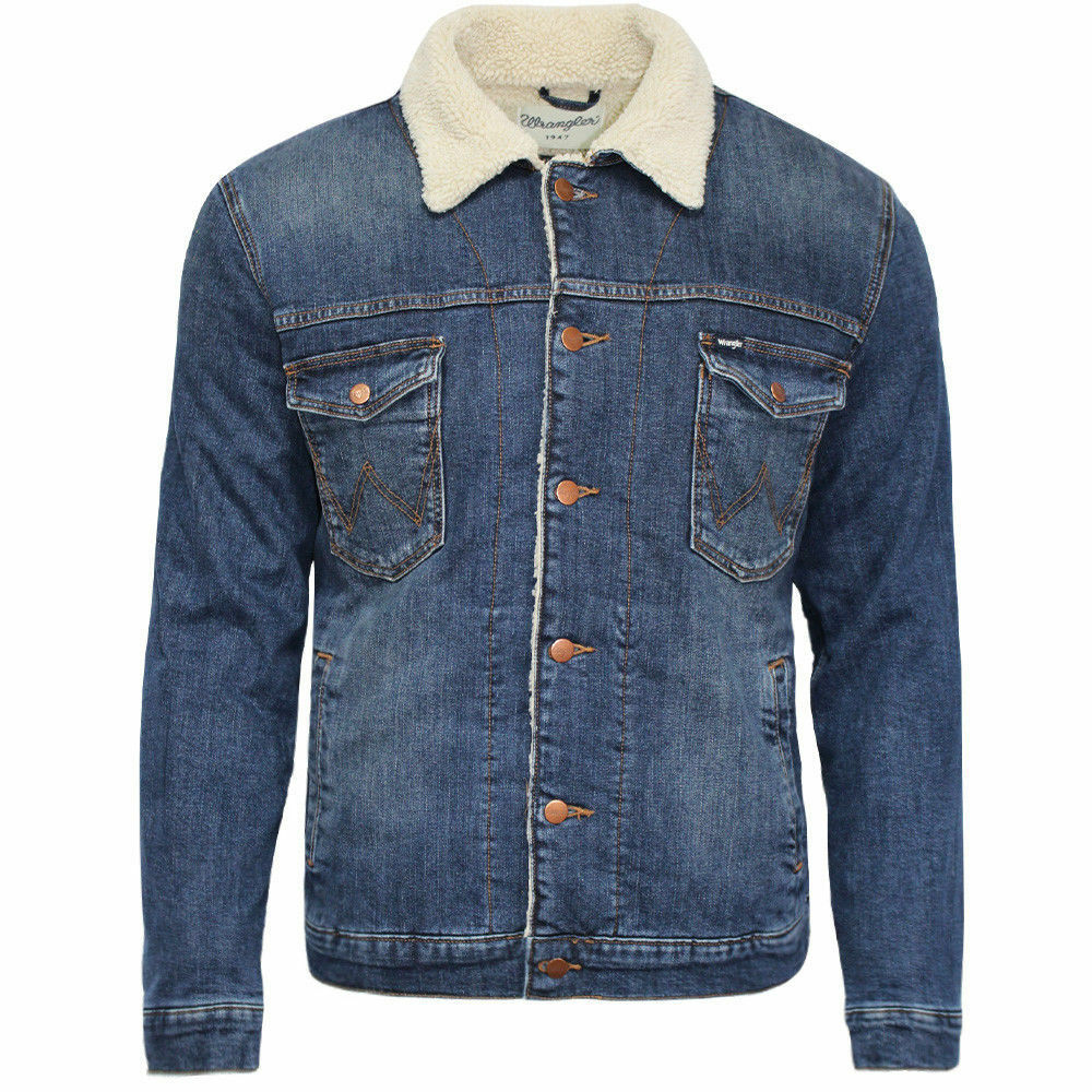 Wrangler denim jacket fleece