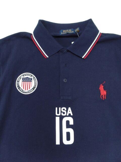 Polo Ralph Lauren Men/'s Team USA 2014 Olympics Custom Fit Mesh Polo Shirt