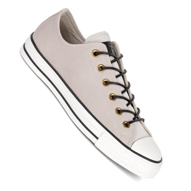 CONVERSE Chucks LO PELLE sfilacciato Burlap AIRONE BLACK Sneakers Uomo