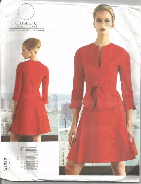 Vogue DESIGNER Sewing Pattern Chado Ralph Rucci 1317 Dress Size 8 ...