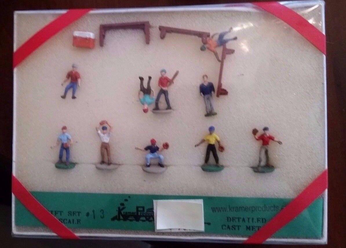 ho kramer products gift set 13 backyard baseball team detailed