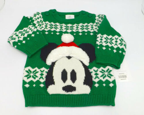 fc9bbf327 Disney Store Sweater Mickey Mouse Baby Boy 9-12 M New Winter ...