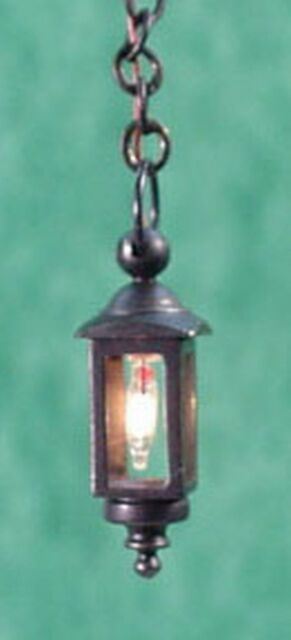 Dollhouse Miniature 1:24 Scale Black Hanging Coach Lamp By Clare Bell Brass