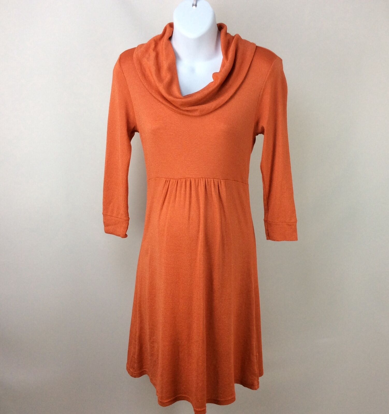 Michael stars maternity dress cowl neck one size shine orange picture 1 of 3 ombrellifo Images