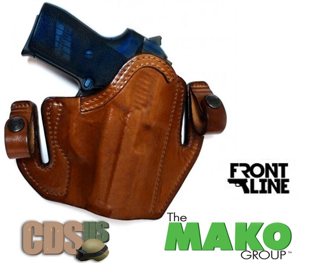 Mako Front Line Brown Deep Concealment Tuckable Holster Glock 17 ...