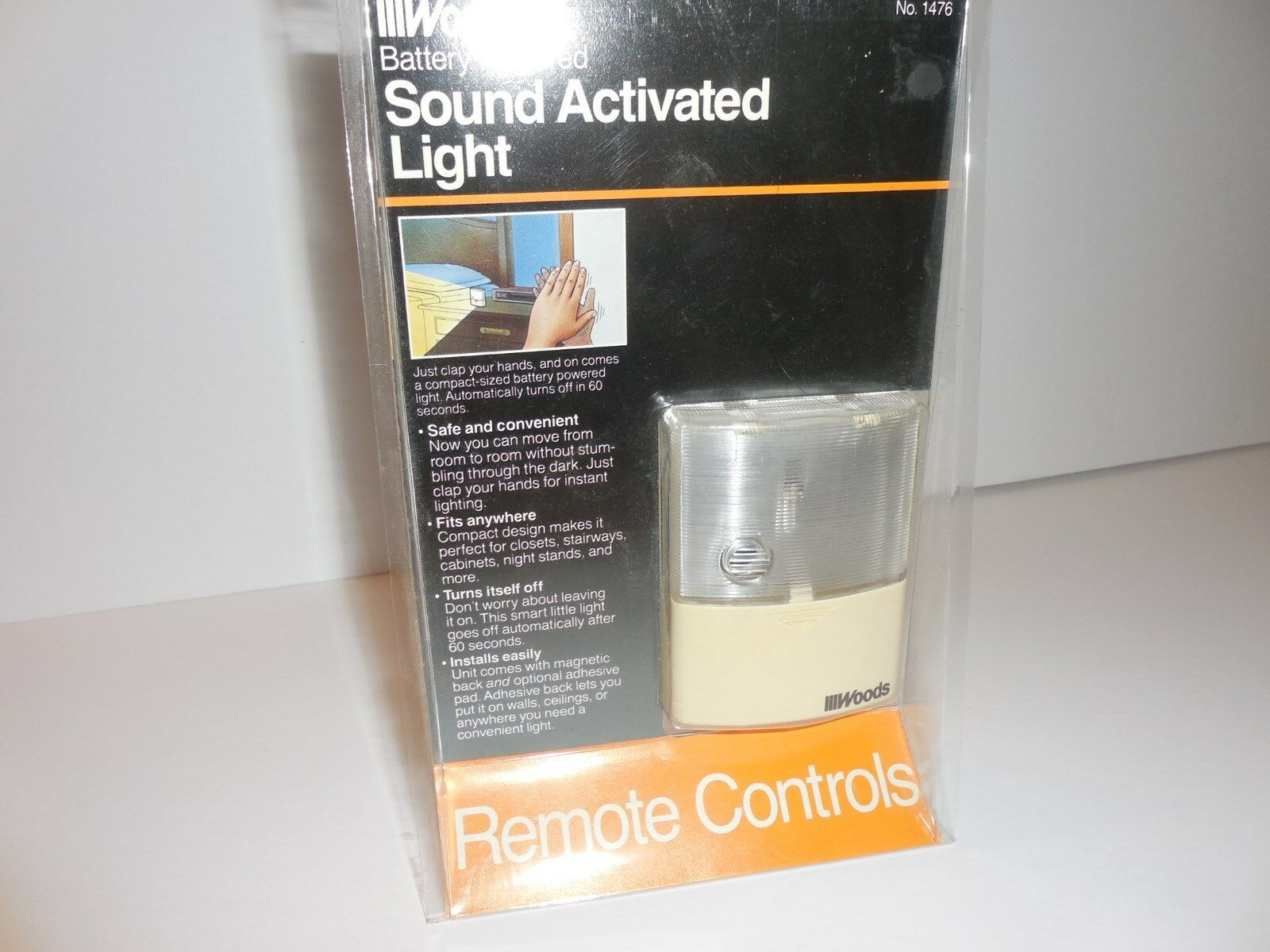 Woods Sound Activated Battery Powered Clap on Light